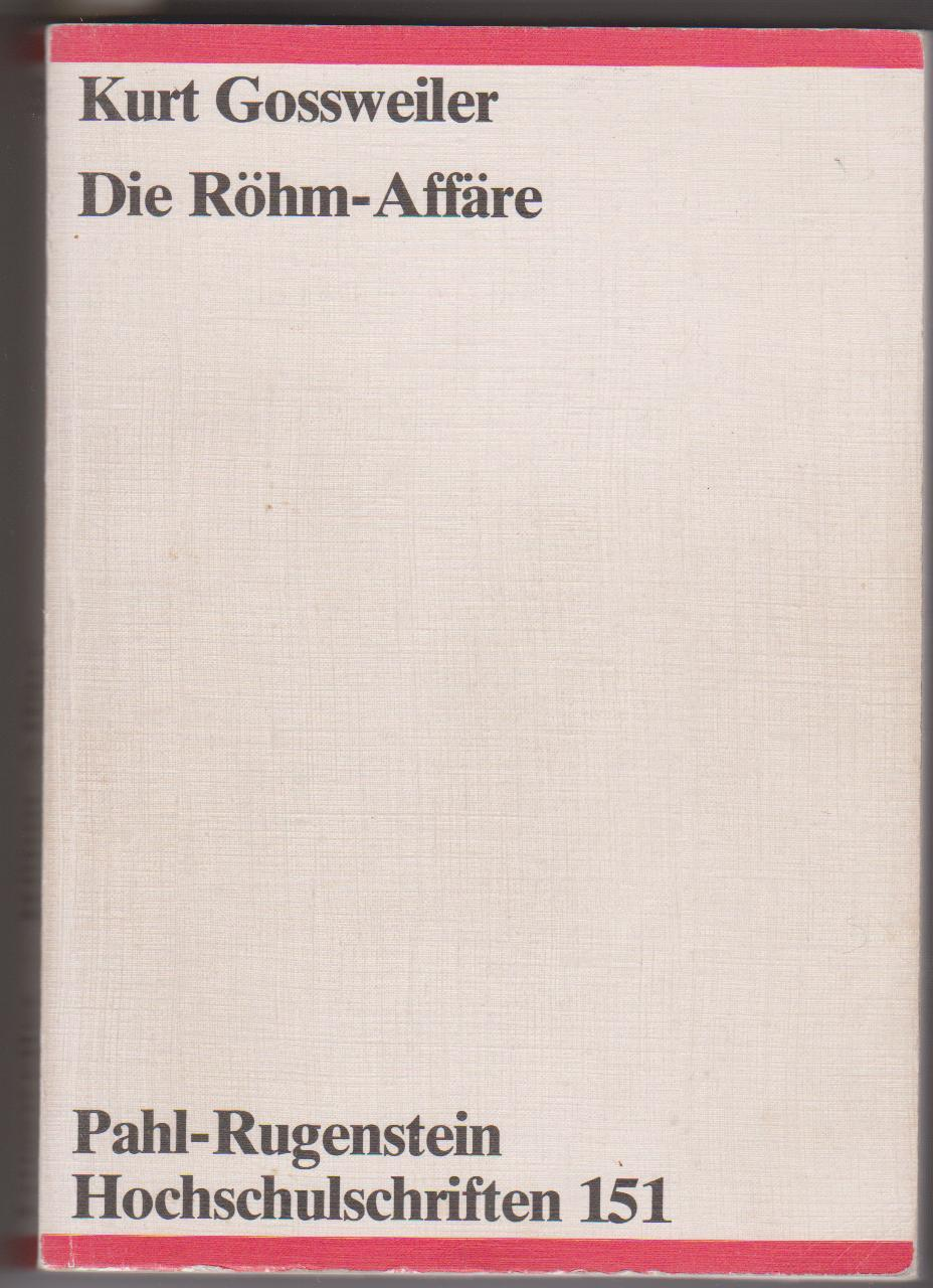Die Röhm-Affaire - Originalausgabe